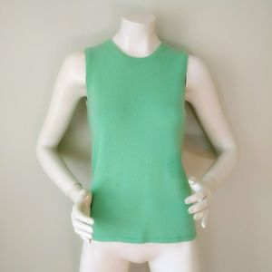 TSE Apple Green Cashmere Sleeveless Tank Sweater S